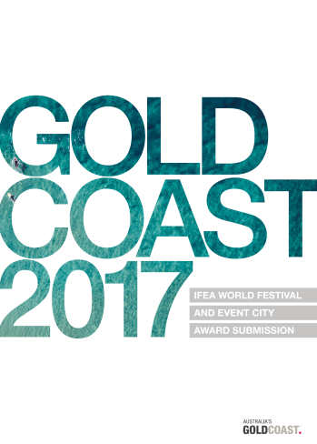 City of Gold Coast's IFEA award submission cover